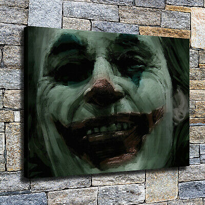"12""x16""Horror Clown HD Canvas poster prints Painting Home Decor Picture Wall art"