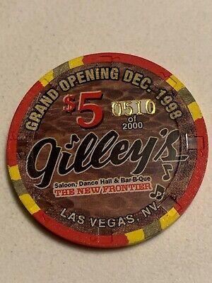 THE NEW FRONTIER GILLEY'S $5 Casino Chips Las Vegas Nevada 3.99 Shipping