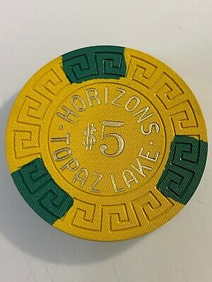HORIZONS $5 Casino Chips TOPAZ Lake Nevada 3.99 Shipping