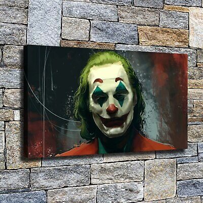 "12""x20""Horror Clown HD Canvas poster prints Painting Home Decor Picture Wall art"