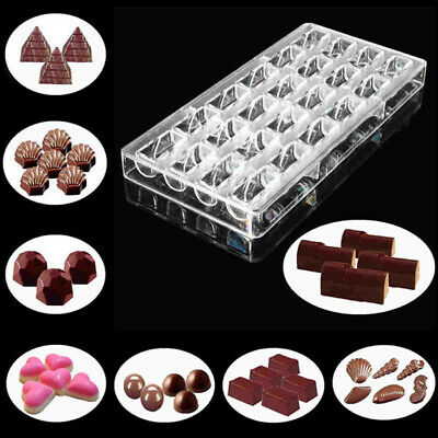 Candy Jelly Cookie Cake Mould 3D Polycarbonate Clear Chocolate Mold Tray Tools