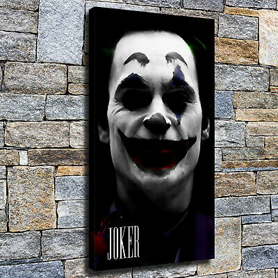 "12""x22""Horror Clown HD Canvas poster prints Painting Home Decor Picture Wall art"