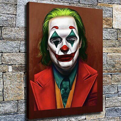 """12""""x22""""Red nose clown HD Canvas prints Painting Home Decor Picture Wall art"""
