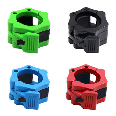 50mm Olympic Weight Bar Collars Rod Barbell Bar Dumbbell Locking Spin Clamps