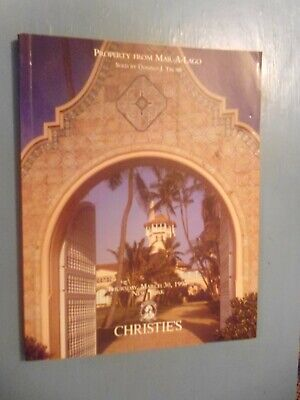 Christie's Auction catalogue  , New York 1995  MAR-A-Lago sold by Donald J Trump