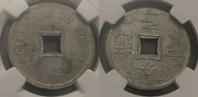 Vietnam Tonkin French Protectorate 1905 1/600 Piastres NGC MS62 UNC KM# 1