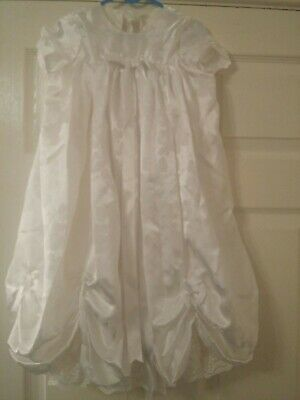 Baby Girls Christening gown  Ivory  0-3months. Custom made