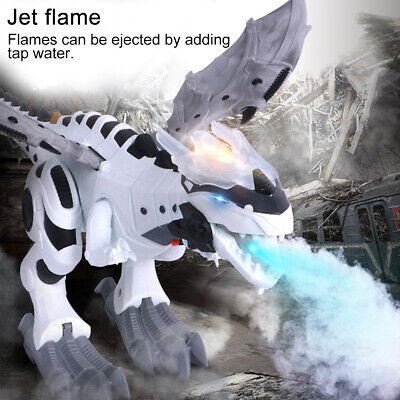 Kids Walking Dragon Toy Fire Breathing Water Spray Dinosaur Christmas Gift