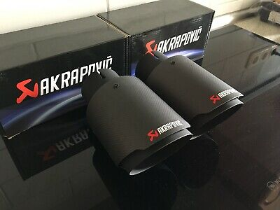 Akrapovic Endrohre Blende Tuning Auspuff Styling Audi VW Mercedes