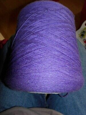 Knitting Machine Wool On Cone Uppingham Supersoft Hyacinth 630Gr