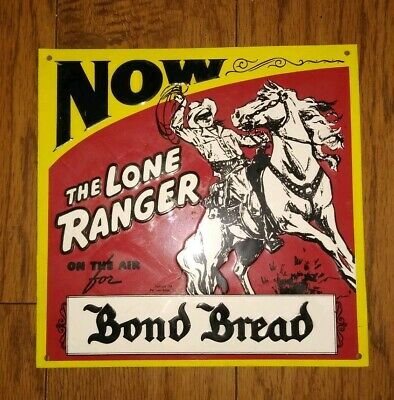 The Lone Ranger Metal Sign Western Vintage Tin