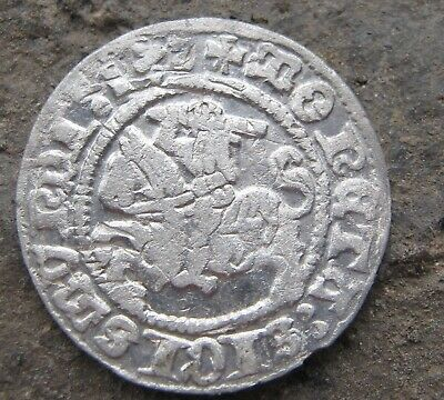 Ancient Medieval silver European coin 1513 year