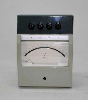 Voltmeter Class 0.5 , 3-course 60-120-240 Volts. Brand Officine Galileo Italy 70