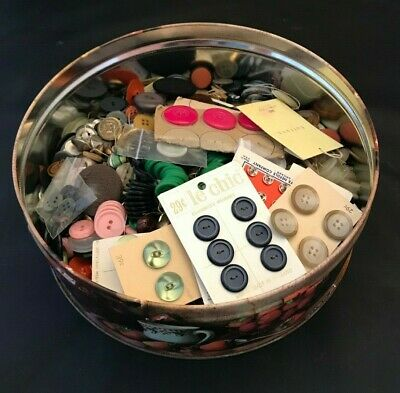 3 pounds of antique and vintage buttons