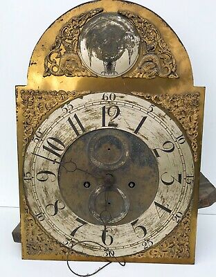 Brass Arched Dial With  Eight Day Movement By Ainsworth Wallington Restoration