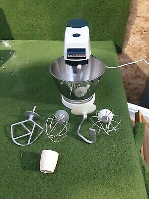 Vintage 1970's Kenwood Chef Mixer with 4 Attachments and Cover