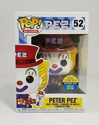 Funko Pop! Ad Icons Peter Pez #52 2019 SDCC/Toy Tokyo EXCLUSIVE