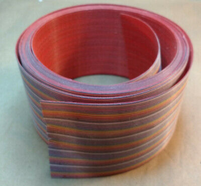 """12'6"""" Roll of Rainbow Ribbon Cable, 2.5"""" Wide, 50 Conductor, 0.050"""" Pitch"""