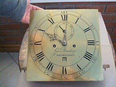 "Long Case Grandfather Brass Face Movement Only ""George Donisthorpe"" Birmingham"