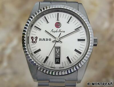 Rado Purple Horse Swiss Made Vintage 1960 Men Stainless St Auto 36mm Watch AS138