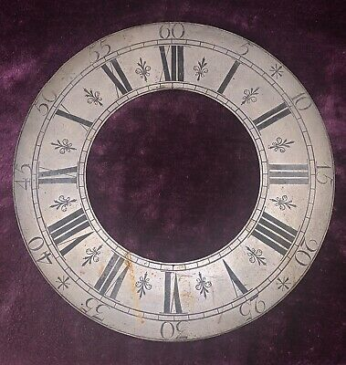 "Antique / Vintage 11"" Clock Chapter Ring / Dial"