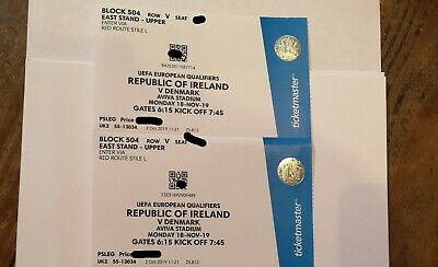 Ireland V Denmark Tickets Euro 2020 Qualifier