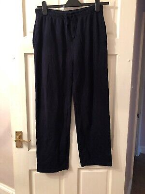 Navy Blue School Or Lounge Trousers Sport Pe Age 13/14 Fit Size 10/12