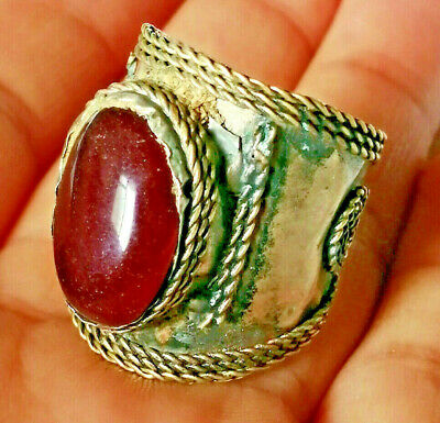 Extremely Ancient Medieval Vintage Metal RING AMAZING With Stone