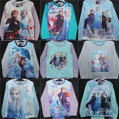 Girls Official Disney FROZEN 2 Pyjamas/PJs in 9 Styles Ages 18 Months - 10 Years