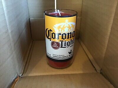 Essential Oil Peppermint Corona Light Limited Handmade Beer bottle Soy Candle