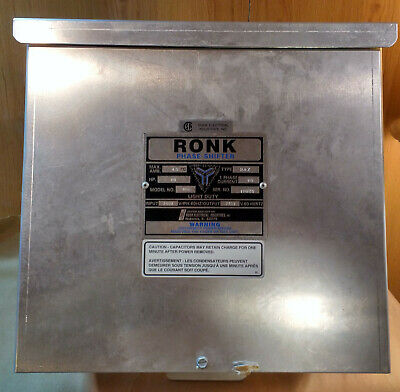 Ronk Phase Shifter Model 80A Type 2AZ, 10HP, 240v Single Phase to 240v 3-Phase