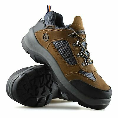 Mens Hi Tec Leather Waterproof Safety Steel Toe Cap Work Hiker Boots Shoes Size