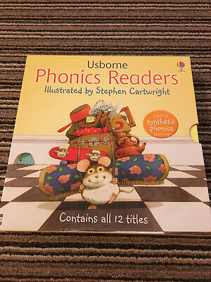 Usborne Phonics Readers 12 Books Collection Box Set *Ideal Christmas Gift*