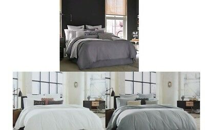 Kenneth Cole Waffle Cranberry Duvet Cover//Bedskirt Full-Queen King Cal King NWT