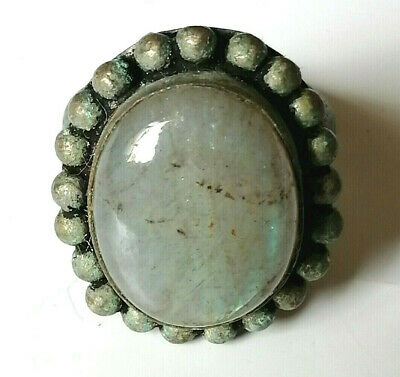 rare ancient Roman bronze ring viking artifact bronze ring authenic with stone