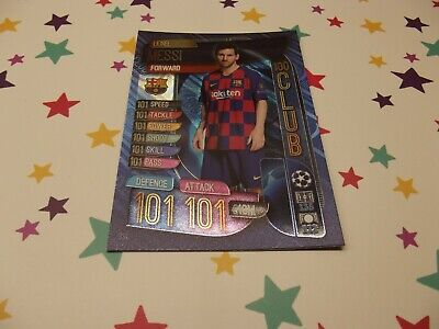 Topps Match Attax 19/20 Champions & Europa League ;100 Club; Lionel Messi 331