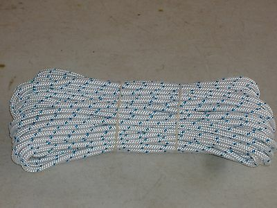 """Braided Polyester rope 1/4""""x100 feet  small boat anchor line"""