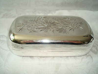 Antique Sheffield Silver Case Box William Wheatcroft Harrison 1897-1918