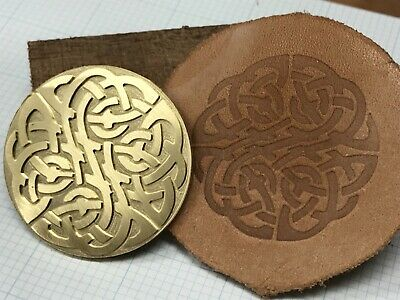 Brass ROUND CELTIC KNOT Letterpress Tool Stamp leather embossing die