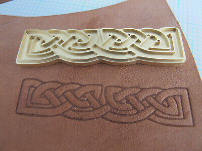 Long Celtic Knot Leather Bookbinding Finishing tool Stamp EMBOSSING die ST7