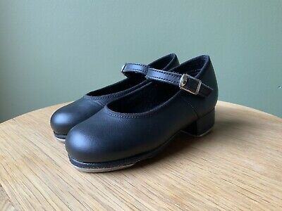 Girls' Leather Tap Shoes Size 8 US Slick Dance Wear. Christmas Gift Idea!