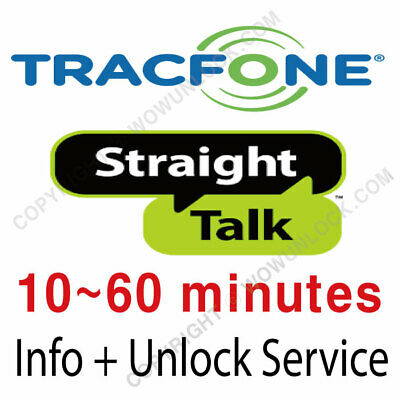 Tracfone Straight Talk Info + Unlock Code Service iPhone & Generic Devices