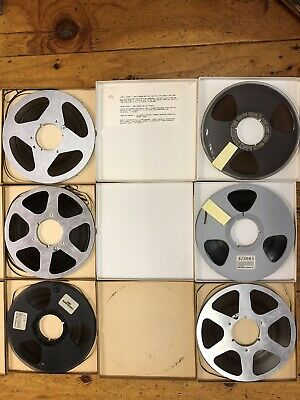 """Lot of 6 pre-recorded 10 ½"""" Reel-To-Reel Tapes in Boxes"""