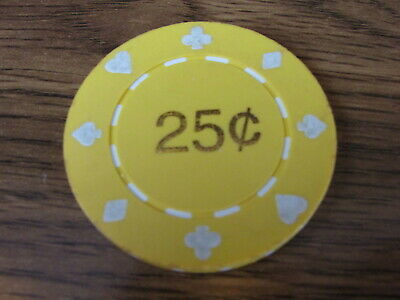 $0.25 Fractional, Casino is unknow, may be a Rollette Chip