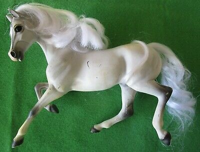 Reeves/Breyer White Horse With Gray Markings - White Combable Mane & Tail -