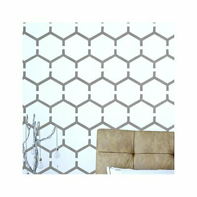 HONEYCOMB Modern Geometric Hexagon - Furniture Wall Floor Stencil for Painting