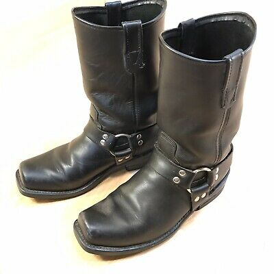 Double H HH Men's Size US 10 D Black Leather Harness Motorcycle Boots