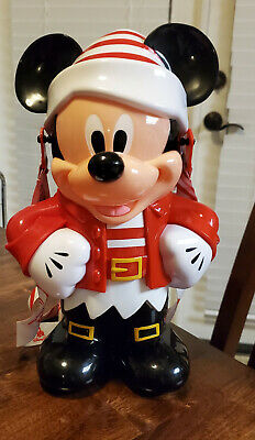 NEW Disney Parks 2019 Christmas Holiday Santa Mickey Elf Souvenir Popcorn Bucket