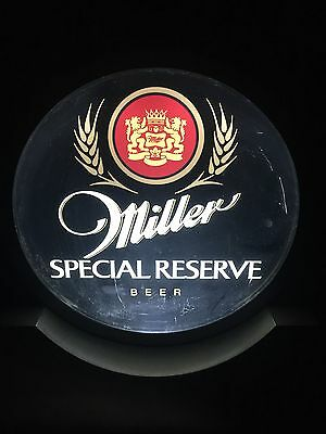 Miller Special Reserve Beer Light Up Sign Alcohol Free Standing Gold Table Top