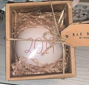 New Rae Dunn Magenta *2019* Christmas Holiday ORNAMENT RED Numbers